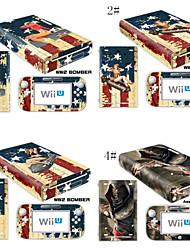 peaux de couverture Decal pour la console Nintendo Wii U&gamepad