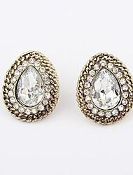 Stud earrings set auger acrylic water droplets