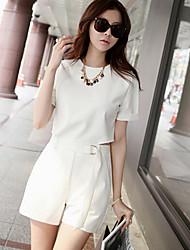 Women's Summer White Black Cut Out Jumpsuits