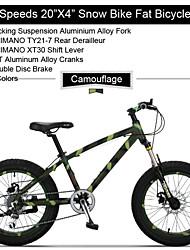 """7 vitesses 20 """"x11"""" x4.0 """"pneu de graisse moto neige OBK ™ graisse bicicleta VTT suspension en alliage d'aluminium de fourche"""
