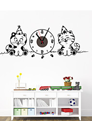 DIY Cartoon Cat Wall Clock