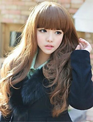 Japanese and Korean Fashion Explosion Models with Long Black Curly Wig