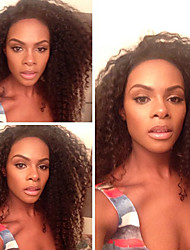 parrucche del merletto capelli umani per le donne capelli vergini brasiliani ricci di colore dei capelli umani (# 1 # 1b # 2 # 4)