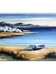 pinturas al óleo moderna con vistas al mar, materiales lienzo con marco estirada listo para colgar tamaño: 60 * 90cm.