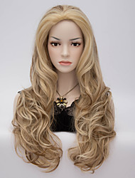 2015 Fashion Sexy Style Wavy Charming Brown Long Body Wavy Costume Wig Hair Blonde Synthetic Hair Wigs