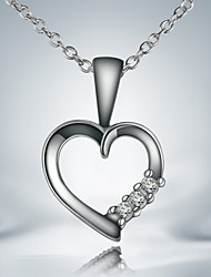 Party/Work/Casual Silver Plated Heart Pendant Necklace