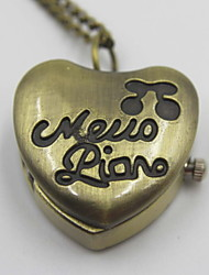 романтическая форме сердца карманные часы свитер ожерелье