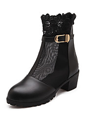 Women's Shoes Synthetic/Leatherette/Rubber Kitten Heel Bootie/Pointed Toe/Closed Toe BootsOffice & Career/Party &