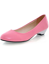 Women's Shoes Patent Leather Low Heel Ballerina Flats Office & Career / Dress / Blue / Yellow / Pink / Red / White