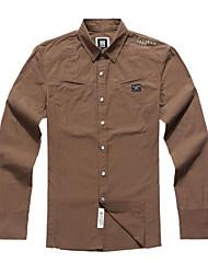Men's Cotton Pure Long Sleeve Regular Fit Casual Shirt