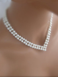 Necklace Choker Necklaces / Strands Necklaces / Pearl Necklace Jewelry Party / Daily / Casual Fashion Pearl Silver 1pc Gift