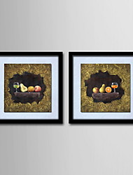 Oil Painting Decoration Abstract Fruit still life Hand Painted Canvas with Stretched Framed - Set of 2