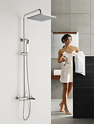 HPB  Contemporary Waterfall Brass Chrome Shower Faucet with Air Injection Technology Shower Head