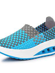 Feminino-Mocassins e Slip-Ons-Sapatos de Berço-Creepers-Cinzento Fúcsia Verde Azul-Materiais Customizados-Ar-Livre Casual Para Esporte