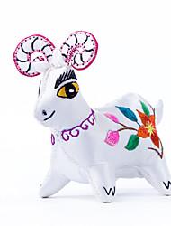 Китай ручная вышивка кулон-двенадцать знаки овец стереоскопического