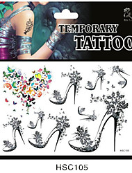 talones mariposa bm tatuaje temporal sexy para hombre, mujer