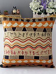 Африка стиль геометрической формы хлопок / лен декоративная подушка крышка