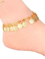 De u7® vrouwen 18k echt goud / platina-plated schattige koningin munten charmes verstelbare mooie enkelband armbanden enkelbanden
