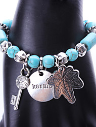 Women's Party/Casual Alloy/Resin Maple Leaf Pendant Beaded/Charm Bracelet