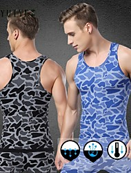 YUIYE® Men Jogger Sleeveless Muscle Tank Top Vest Fitness Sports Training Running Undershirts Top (without the Pant)
