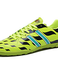 Soccer Men's Shoes Leather Black/Green/White