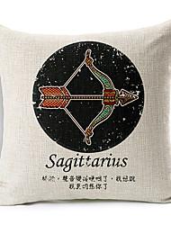 constelação do Sagitário estilo moderno modelado algodão / linho cobertura decorativa travesseiro