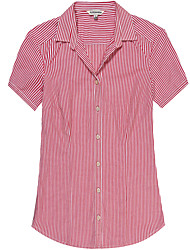 Women's Short Sleeve Striped Blouse