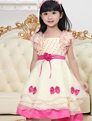 "Girl's High Class Micro-elastic Sheer/Thin Sleeveless Dresses (Cotton/Mesh) ""Soft Material"""