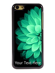 Personalized Gift Half Beautiful Flower Design Aluminum Hard Case for iPhone 5C