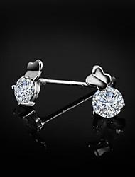 venda da promoção bonito / partido / casamento jóias de prata brincos de prata esterlina casuais para homens e mulheres