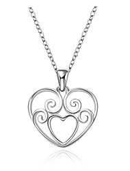 Cremation jewelry 925 sterling silver Hollow Heart Pendant Necklace for Women