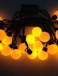 4w 5 metro di diametro esterno 20pcs lampadina led stringa di modellazione luci di palla eccellente grandi, di colore giallo