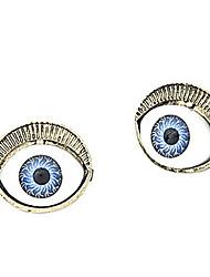 Gun Color Plated Eyes Alloy Gem Earrings