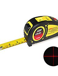 3 en 1 laser ruban à mesurer de niveau kit dans 5,5 mètres ou 18 pieds de longueur