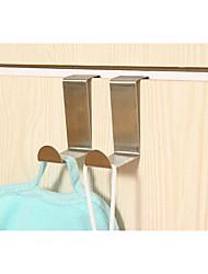 10PCS Stainless Steel Coat Hooks Bag Hooks Door Hooks