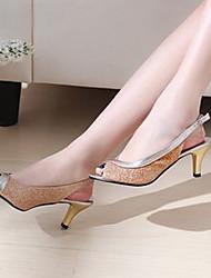 Women's Shoes Stiletto Heel Heels/Open Toe Sandals Dress Black/Blue/Pink/Silver/Gold