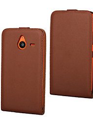 For Nokia Case Flip Case Full Body Case Solid Color Hard PU Leather Nokia Nokia Lumia 640 / Nokia Lumia 640 XL