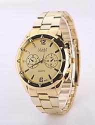 2015 Watch Women Fashion  Gold Color Steel Watch Band Watches Geneva Watches Men Luxury Brand