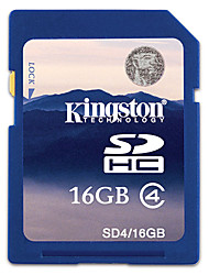 Подлинная Kingston 16GB SDHC карты памяти SD (класс 4)