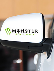Monster Car Sticker Car Body Decoration Sticker Size:14.5*4.1CM 2PCS