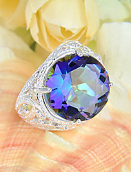 Statement Rings Silver Plated Topaz Circle Jewelry Wedding Party Daily Casual Sports 1pc