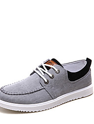 Men's Shoes Outdoor/Athletic Canvas Fashion Sneakers Blue/Red/Gray