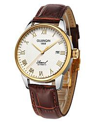 homens de luxo de topo marca guanqin automática de safira auto-liquidação relógio de negócios calendário impermeável relógio de pulso 38