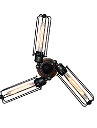 westmenlights 3 Lichter transröhrenförmigen Käfig Wandleuchte
