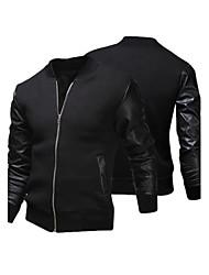 Men's Hoodie Coats & Jackets , Cotton Blend Long Sleeve Casual Hollow Out Winter / Fall HI MAN