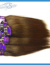 Peruvian Virgin Human Hair Weaves Straight Style 400Grams Lot Color Brown Grade5A No Shedding No Tangles