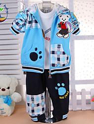 Boy's All Seasons Inelastic Medium Long Sleeve Clothing Three Pieces Sets (Cotton Blends)