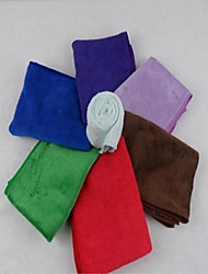 4Pcs Microfiber Towel Random Color(25*25cm)