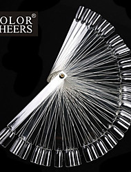 50pcs False Nail Art Tips Display Fan Transparent