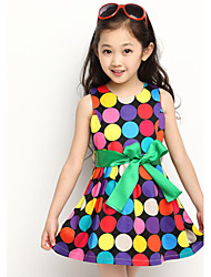 Girl's Color Dot Dress